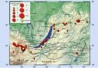 Карта эпицентров землетрясений текущего года по информации Единой геофизической службы РАН