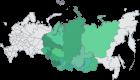 На карте цветом отмечены территории, где находятся организации под научно-методическим руководством СО РАН