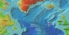 Карта Северной Атлантики - с подписями