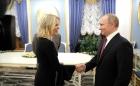 Владимир Путин с журналистом американского телеканала NBC Мегин Келли.