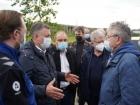 Игорь Кобзев и делегация РАН на площадке бывшего Усольехимпрома