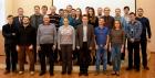 Чл.-к. РАН, д.ф.-м.н. Бабин Сергей Алексеевич - третий слева в первом ряду