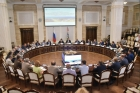 Участники совещания в Правительстве Новосибирской области 27.07.2018
