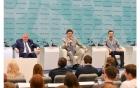 Михаил Ковальчук, Михаил Котюков отвечают на вопросы молодых ученых, Сочи, 2018