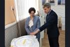 Ирина Мануйлова и Алексей Васильев в Институте катализа СО РАН