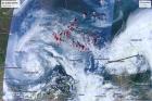 Данные MODIS Terra/Aqua, 22 июля 2019 г.