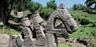 Средневековая каменная скульптура в горах Пир-Панджал, фото ИАЭТ СО РАН