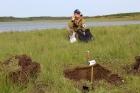 Большая норильская экспедиция, работа с почвой.