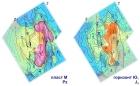 Прогнозные карты нефтегазоносности продуктивных отложений Герасимовского нефтегазоконденсатного месторождения. Иллюстрация предоставлена А.Ю. Космачевой, ИНГГ СО РАН
