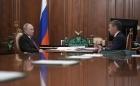 Владимир Путин и Валерий Фальков