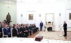 Владимир Путин на церемонии обмена соглашениями о намерениях.