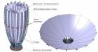 Трансформируемый прецизионный крупногабаритный рефлектор космической антенны диаметром до 5 м