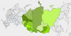 Территория Сибири, где находятся организации СО РАН
