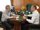 Президент РАН Александр Сергеев и врио губернатора Сахалинской области Валерий Лимаренко