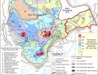 Схема нефтегазогеологического районирования Сибирской платформы (под редакцией А.Э. Конторовича)*