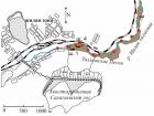 Схема опробования хвостохранилища Талмовские Пески