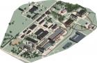 Схема расположения будущего электрон-позитронного коллайдера Супер С-тау фабрика на территории ИЯФ СО РАН.