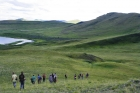 Молодые геологи на озере Шира