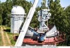 Монтаж Солнечного синоптического телескопа. Фото В. Короткоручко, 2017 г.