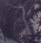 Телецкое озеро, 23.02.2018. Данные Sentinel3 OLCI, предоставлены Валентином Смирновым