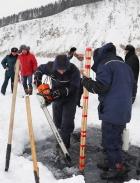 Установка на Селенге станции мониторинга толщины ледового покрова, разработанной в ЛИН СО РАН