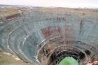Алмазная трубка «Мир» в Якутии после затопления