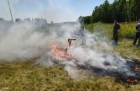 Очаг возгорания в Томской области. Фото пресс-службы ТГУ