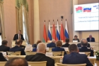 Андрей Травников выступает на VI Форуме регионов России и Беларуси.