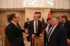 Академик Николай Кашеваров (крайний слева) и Андрей Травников