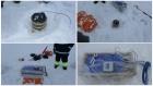 Установка сейсмометров на дрейфующей льдине