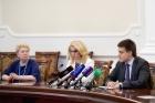 Ольга Васильева, Татьяна Голикова и Михаил Котюков
