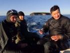 Участники экспедиции Лимнологического института СО РАН,  директор ЛИН СО РАН Андрей Федотов крайний справа