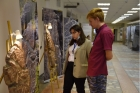 На выставке «Наскальное искусство Кузбасса», фото Ю. Поздняковой