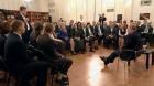 Андрей Юрченко выступает с инициативой на встрече Владимира Путина с представителями общественности