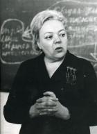 Академик Т.И. Заславская читает лекцию в НГУ. Фото Р. Ахмерова