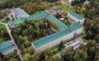 Здание Института катализа СО РАН (Новосибирск) с высоты птичьего полета