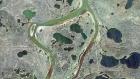 Космический снимок места разлива дизельного топлива из резервуара ТЭЦ-3 в Норильске. Роскосмос